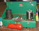 Ugly But Great Operating Coleman Model 426 C Three Burner Stove