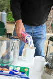 Let's see? One Part Coffee, Two Parts Sugar.... ( Tim Doctoring His Coffee)
