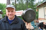 Jules With His Griswold Cast Iron Pan