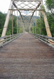 Wood Deck Of Abandoned Bridge  Up The Entiat Valley