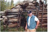 Dad ( Elmer ) At Old   Gold Rush Cabin In Yukon ( July 2005)