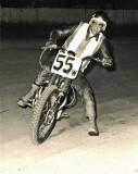 Eddy Johnson Racing TT Flat Track On Triumph  In Mid  60's