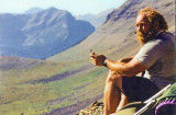 Mad Monte Resting Along The CDT In Glacier Park Montana ( Sept. 2002 )