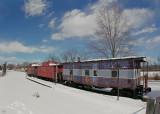Snowbound Train