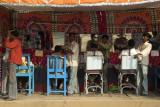 Time for a trim at the camel fair, Pushkar