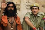 Sadhu and friend, Pushkar, India
