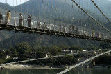 Ram Jhula footbridge crosses the Ganges further downstream
