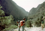 Setting out on the Samaria Gorge hike in Crete