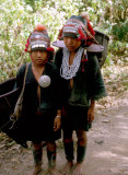 Akha tribal people in the hills north of Chiang Mai, Thailand