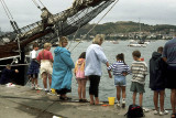 'Shrimping' on the waterfront at Conwy
