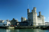 Caernarfon Castle, where Princes of Wales are inaugurated (UK)