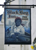Sign of the Black Boy public house, Caernarfon