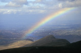 Rainbow over Llanberis, below Mt Snowdon