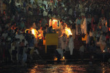 Nightly Aarti ceremony beside the Ganges