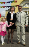 Young family on City Day, Yaroslavl
