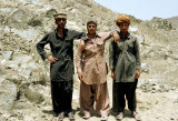 Three Baluchi labourers, the guys who did all the real work