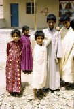 Arab village children in the Emirates