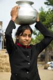 Farm girl with water pot, Kumaon
