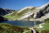 Lago de Enol in the Picos de Europa, Asturias