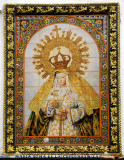 Image of the Virgin Mary in ceramic tiles, Zafra, Extremadura