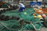 Mending nets at Mallaig