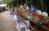 Alfresco breakfast on the island