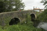 Medieval bridge at Furelos, Galicia