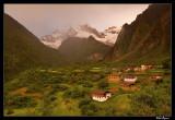 Misty sunrise over Yubeng Village