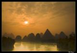 Sunrise over the Li river