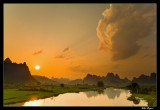 Sunset over the Li River