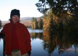 Self portrait at Lefford's Pond.