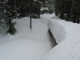 4 Foot Snowpacked bridge... rough to cross
