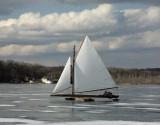 Ice Boating on Orange Lake NY 28-Jan-2007