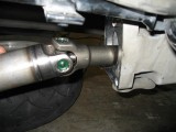 Reinsert drive shaft with U joint forward