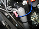 Tap for blue wire onto white/red stripped wire for #1 cylinder