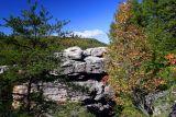 Rock formation near canyon rim  #2