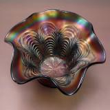 CARNIVAL GLASS BOWL - USING HOMEMADE LIGHT BOX