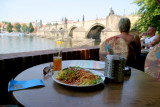 A Beautiful restaurant and more beautiful view of Prague