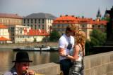 Kissing on the Charles bridge
