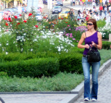 A girl in the Vaclavske