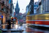 Raining Vaclavske street