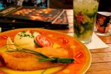 Fish cutlet and Virgin Mojito