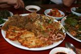 Famous potato and seafood pancake