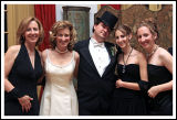 A Wedding Portrait of Groom, the Bride, Her Sister and Sister's Daughters