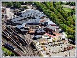 Aerial View of Steamtown Train Yard