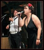 Charismatic Vocalist Sings with Groom on the Bass