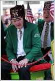 Shriners Riding the Float at the St. Patricks Day Parade
