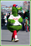 Look Out! Here Comes the Phillie Phanatic!