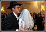 The Rabbi Escorts his Daughter, the Bride.