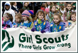 Here Come the Girl Scouts at the St Patricks Day Parade